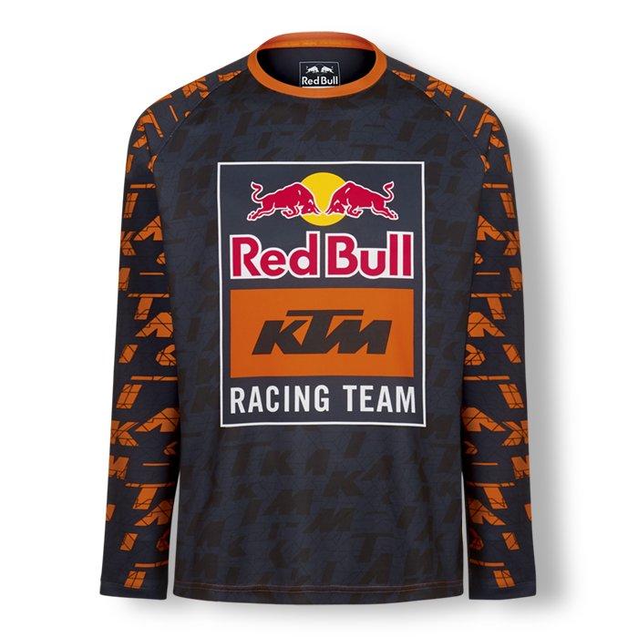 KTM レッドブルチーム モザイク ロングスリーブ Tシャツの画像