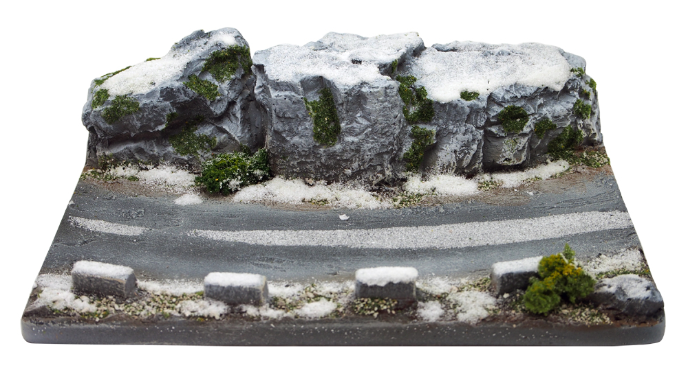 リアルプロダクト 1/43用 ディスプレイジオラマ D33GS Grey rocks covered with snowの画像