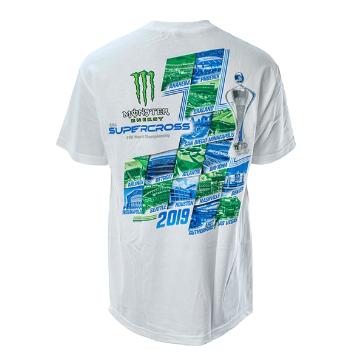 2019 モンスター エナジー スーパークロス ワールド チャンピオンシップ Tシャツ ホワイトの画像