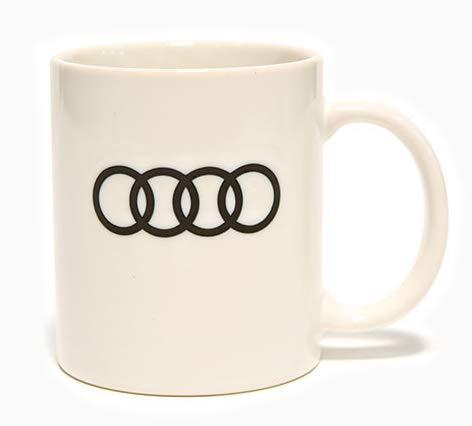 AUDI アウディー エンブレム オフィシャル マグカップ ホワイトの画像