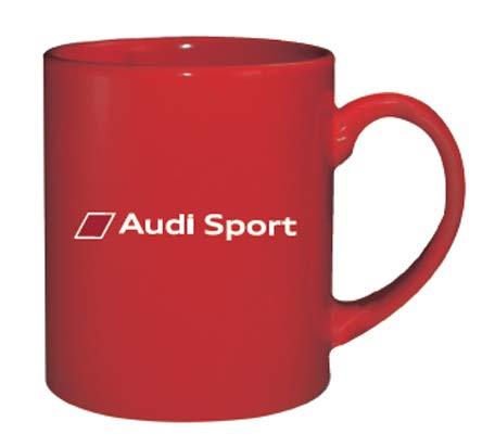 AUDI Audi Sport アウディー スポーツ オフィシャル マグカップ レッドの画像