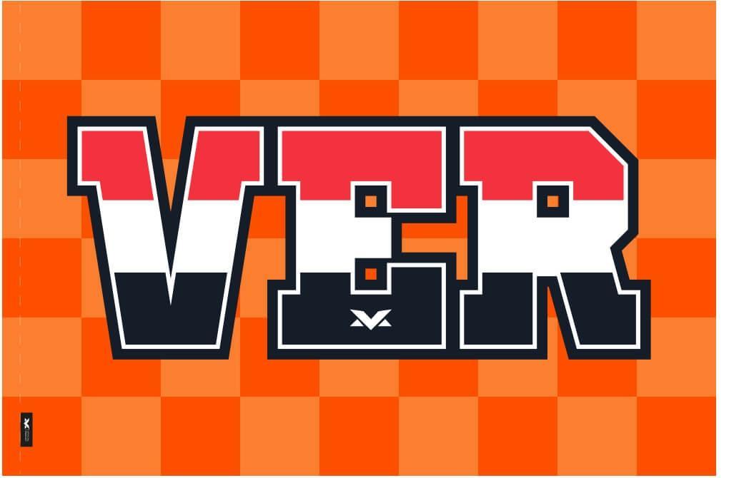 マックス・フェルスタッペン オフィシャル VER オレンジ フラッグの画像