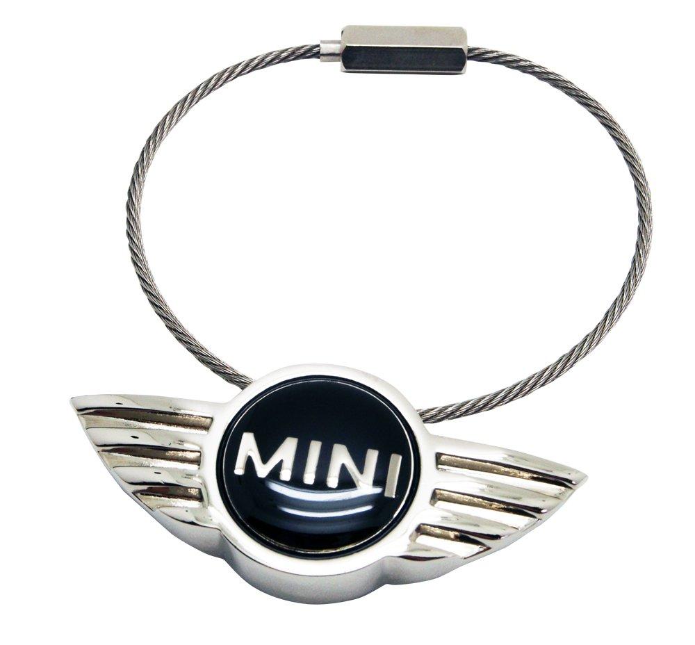 BMW ミニクーパー Mini ウィングロゴ メタルキーリングの画像