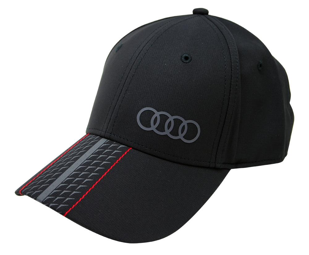 Audi アウディー スポーツ オフィシャル ベースボール キャップ Premium Schwarz ブラックの画像