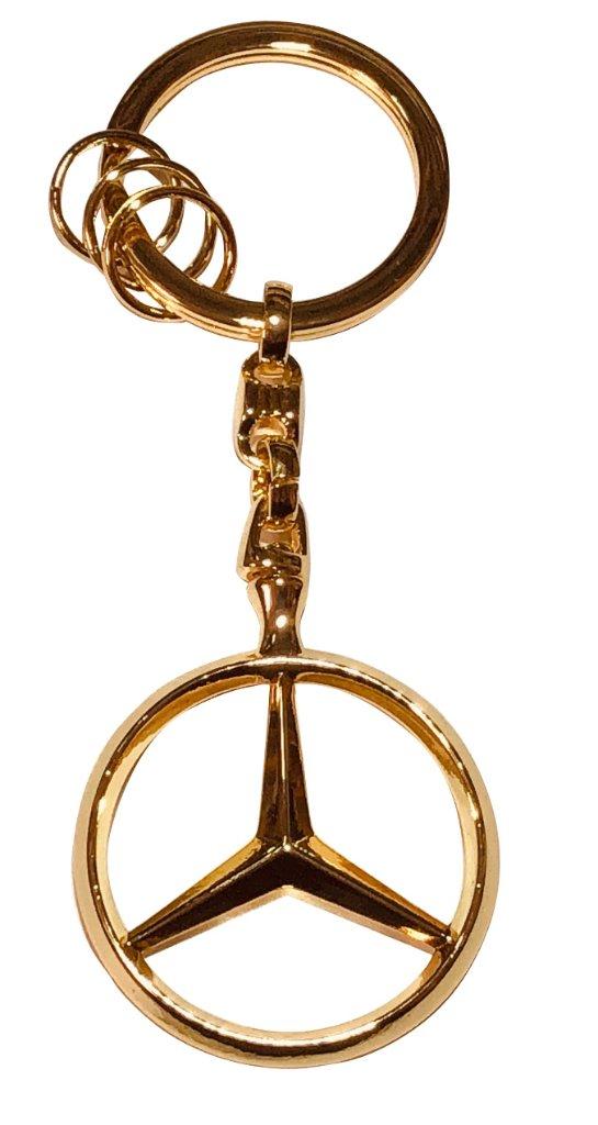 メルセデスベンツ オフィシャル スリーポインテッドスター キーリング ゴールドの画像