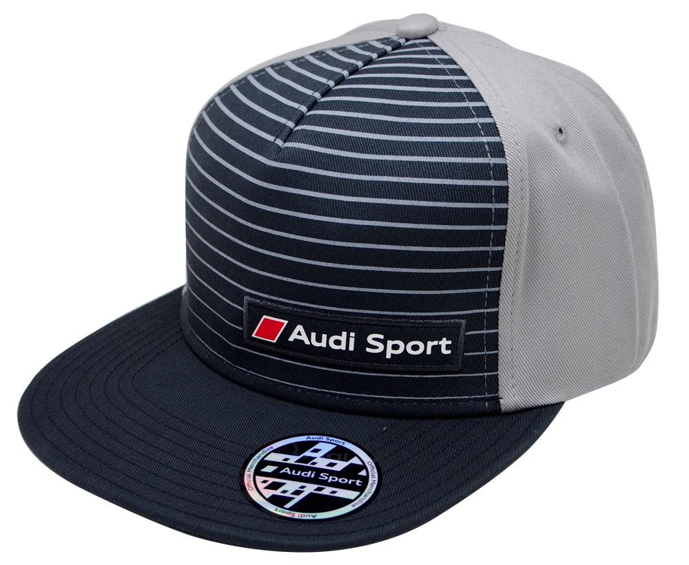 アウディースポーツ オフィシャル ストライプ フラットバイザー スナップバック CAPの画像