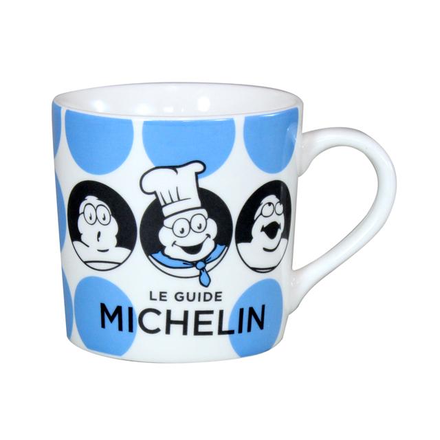 MICHELIN ミシュラン オフィシャル ドット柄 マグカップ ブルーの画像
