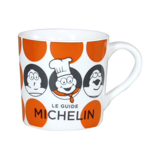 MICHELIN ミシュラン オフィシャル ドット柄 マグカップ オレンジの画像