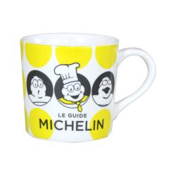 MICHELIN ミシュラン オフィシャル ドット柄 マグカップ イエローの画像