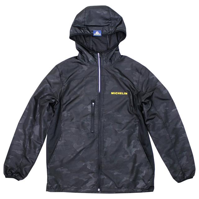 ミシュラン リップ ストップ フード ジャケット カモ ブラックの画像