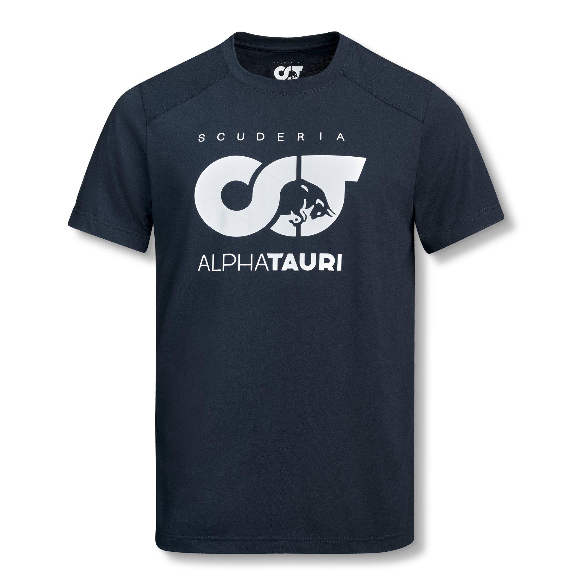 2020 スクーデリア アルファタウリ ホンダ チームロゴ Tシャツ ネイビー画像