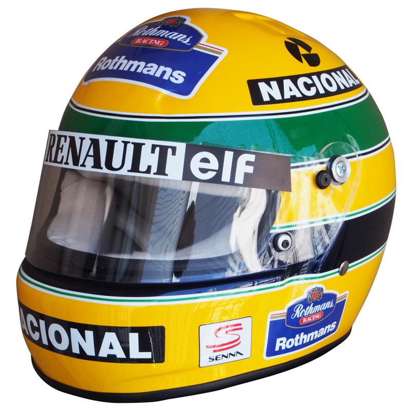 1/1スケール レプリカ ヘルメット アイルトン・セナ 1994年 F1ラストイヤー ウィリアムズ・ルノーの画像
