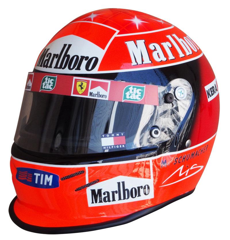 1/1スケール レプリカ ヘルメット ミハエル・シューマッハ 2000年 フェラーリ ワールドチャンピオンの画像