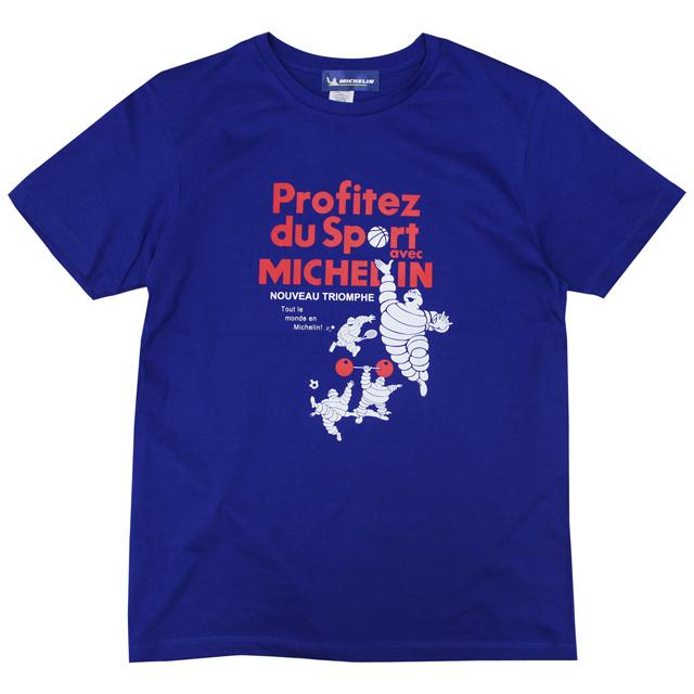 ミシュラン オフィシャル スポーツ Tシャツ ロイヤルブルーの画像