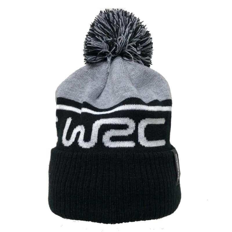 WRC オフィシャル ロゴ Bobble ビーニー ブラック/グレーの画像