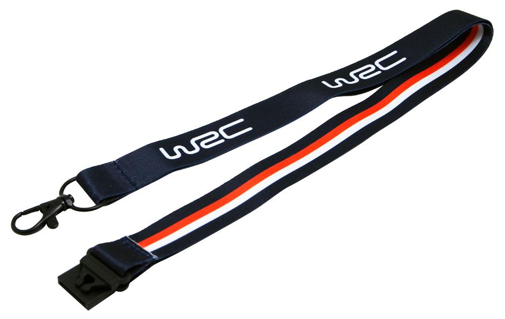 WRC オフィシャル ロゴ ランヤード ネイビー/オレンジの画像