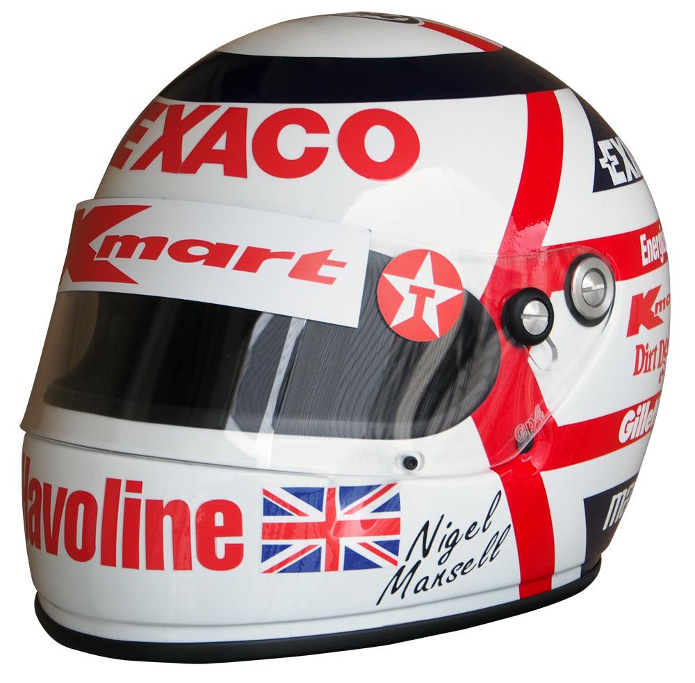 1/1スケール レプリカ ヘルメット ナイジェル・マンセル 1993年 ニューマン・ハース INDY ワールドチャンピオンの画像