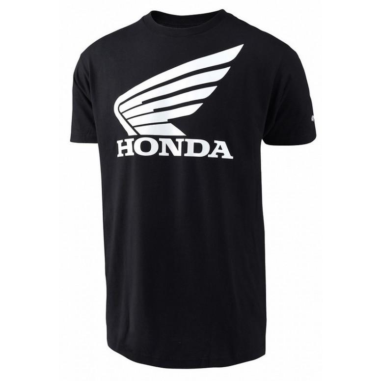 US HONDA RACING ウィングTシャツ ブラック トロイ リー デザインの画像