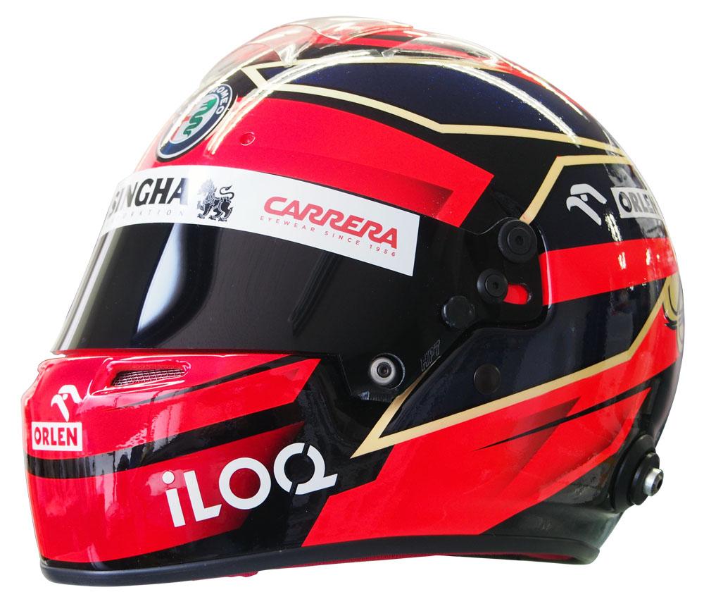 1/1 アルファロメオ レーシング オーレン キミ ライコネン 2021年仕様 レプリカ ヘルメット画像