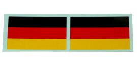 ドイツ国旗ステッカー2枚セットの画像