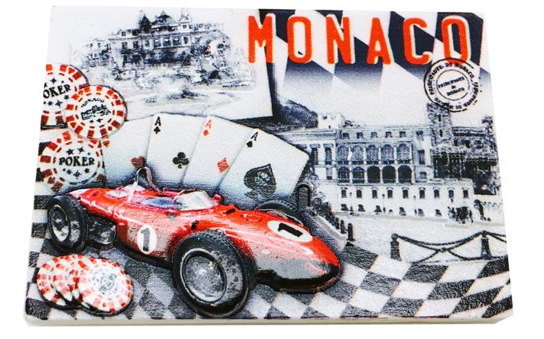 モナコ モンテカルロ マグネットプレート トランプ柄の画像