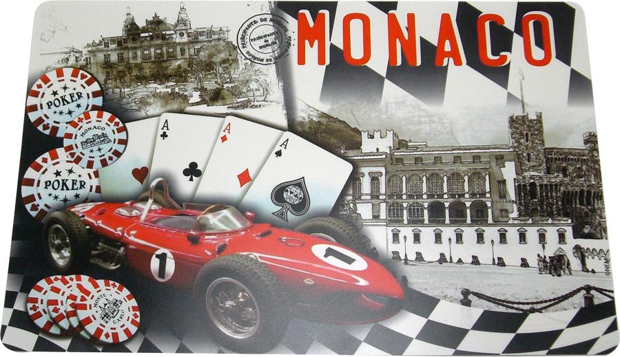 モナコ モンテカルロ ランチョンマット マシン&トランプ柄の画像