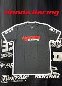US ホンダ レーシング スポンサー Tシャツ ブラック