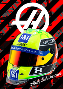 シューベルト 1/2スケール ヘルメット ハース F1 チーム ミック シューマッハ 2021年仕様