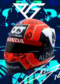 スクーデリア アルファタウリ ホンダ チーム 別注 1/2 スケール ヘルメット 2021年 ピエール ガスリー