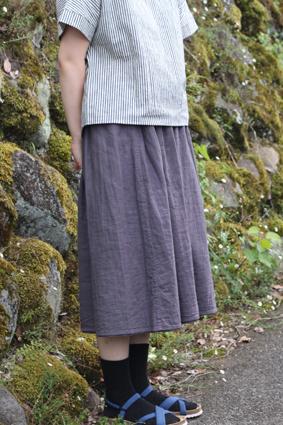 草木染めスカート画像