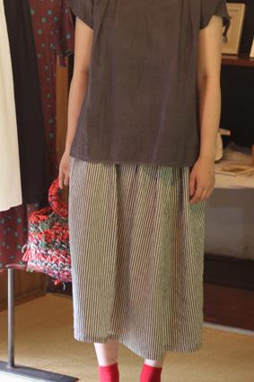 ストライプスカート画像