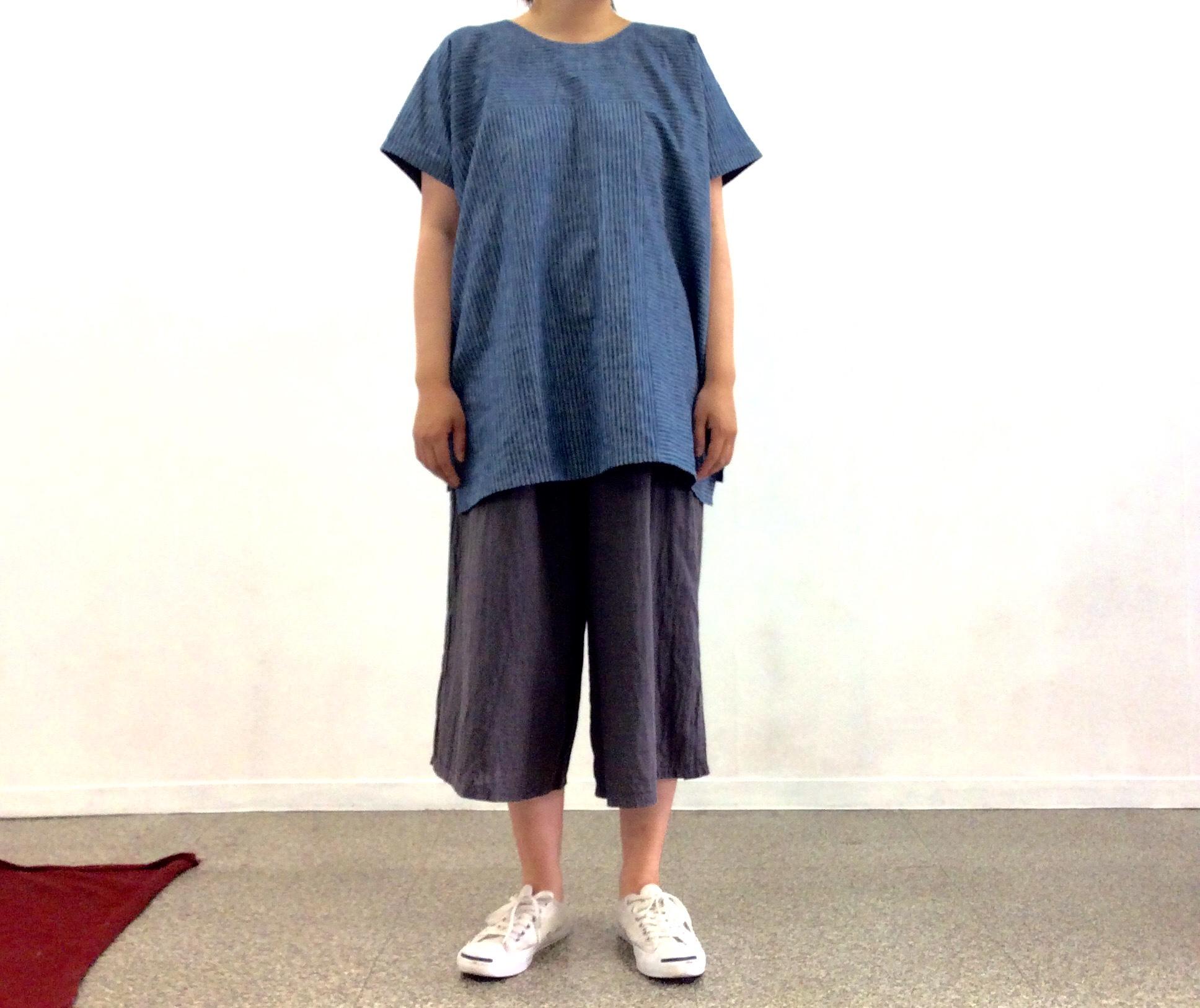 播州織ビッグシルエットトップス画像
