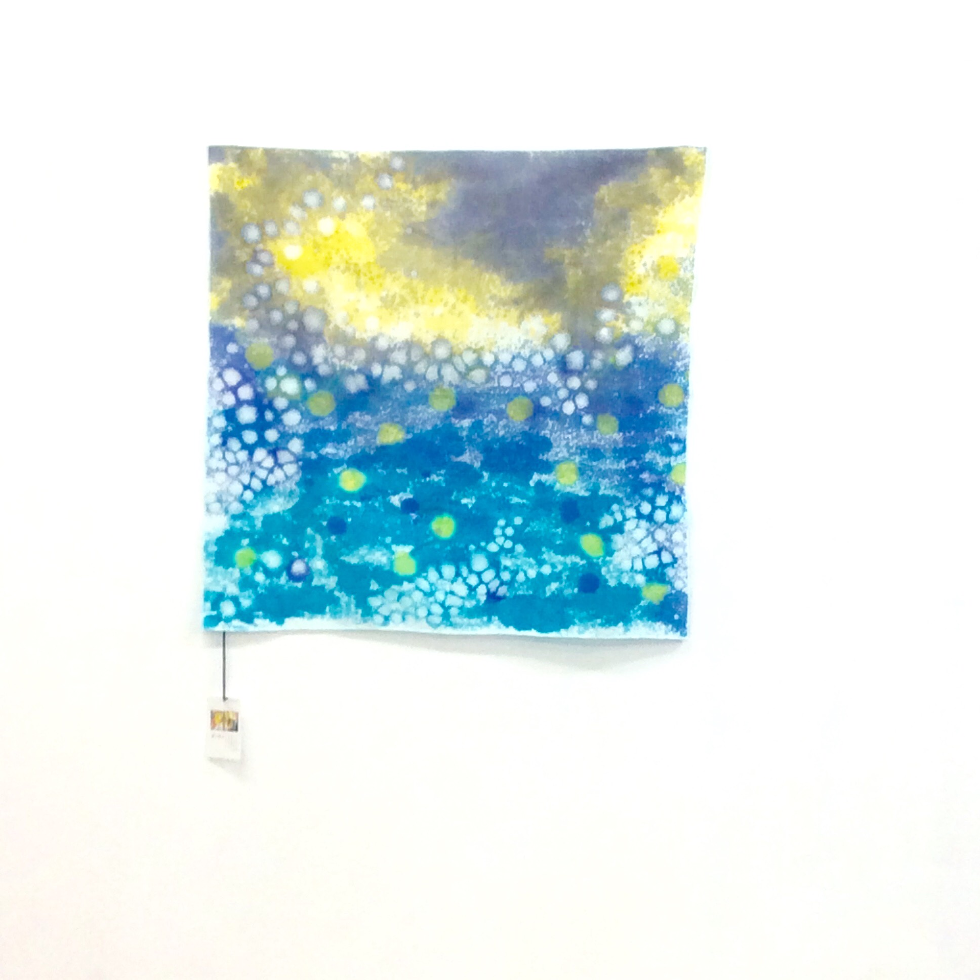 スプラッシュ染めスカーフa画像