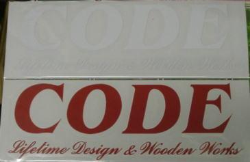 CODEカッティングステッカーの画像