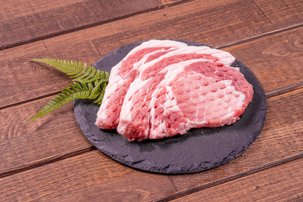 【冷蔵】【筋切済】ロース ステーキ10枚セット 1㎏/¥2,460の画像