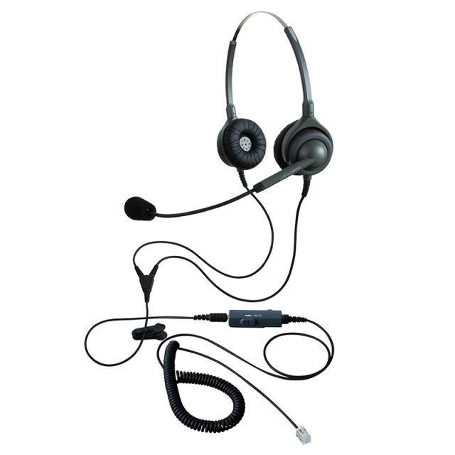 エンタープライズヘッドセットパック両耳タイプVMC3コード(受話ボリューム調整とミュート機能付きカールコード)の画像