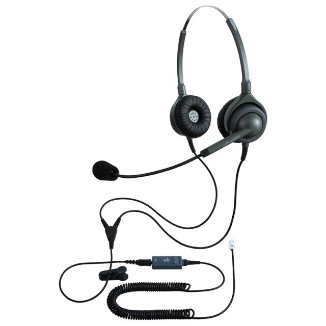 エンタープライズヘッドセットパック両耳タイプMC4コード(ミュート機能付きカールコード)の画像