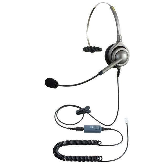 エンタープライズIPヘッドセットパック片耳タイプMC3コード(ミュート機能付きカールコード)の画像