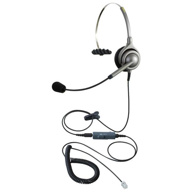 エンタープライズIPヘッドセットパック片耳タイプVMC3コード(受話ボリューム調整とミュート機能付きカールコード)の画像