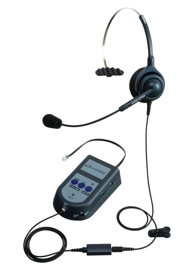 エンタープライズモジュラーS21パックアンプタイプの片耳ヘッドセットの画像