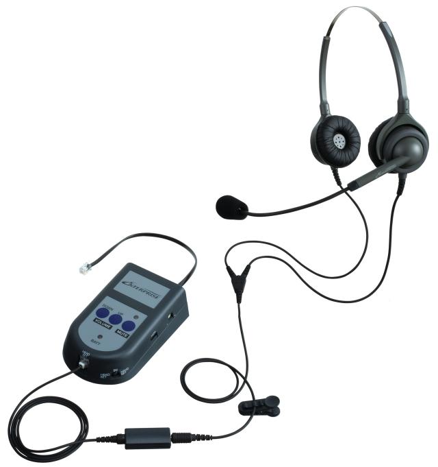 エンタープライズモジュラーS21パックアンプタイプの両耳ヘッドセットの画像