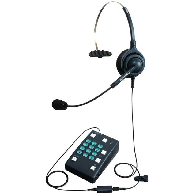 エンタープライズブレステルパックコールセンター向けヘッドセット型電話機の画像