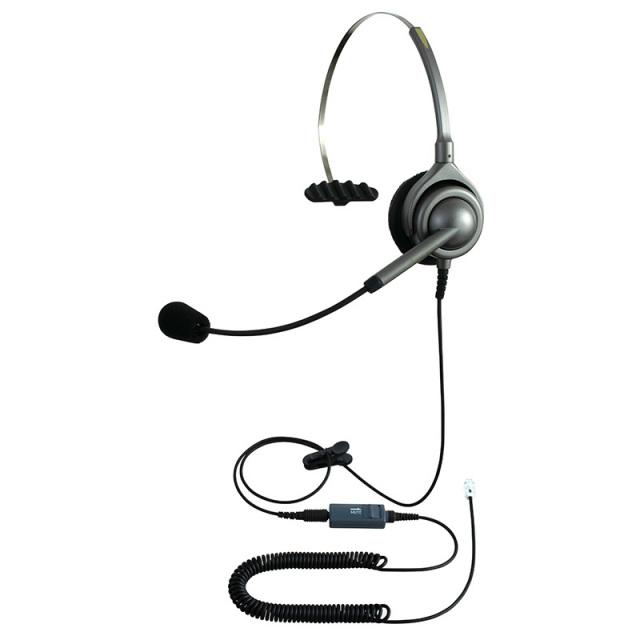 エンタープライズヘッドセットパック片耳タイプMC3コード(ミュート機能付きカールコード)画像