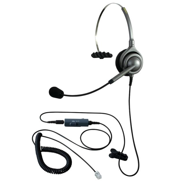 エンタープライズヘッドセットパック片耳タイプVMC3コード(受話ボリューム調整とミュート機能付きカールコード)の画像