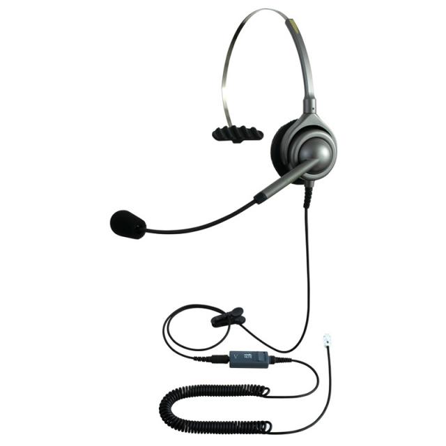 エンタープライズヘッドセットパック片耳タイプMC4コード(ミュート機能付きカールコード)の画像