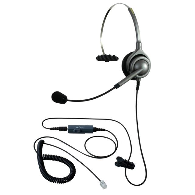 エンタープライズヘッドセットパック片耳タイプVMC4コード(受話ボリューム調整とミュート機能付きカールコード)の画像