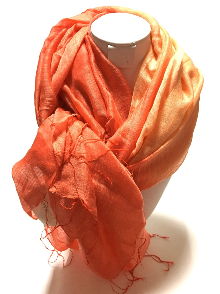 手織りベトナムシルクスカーフ画像