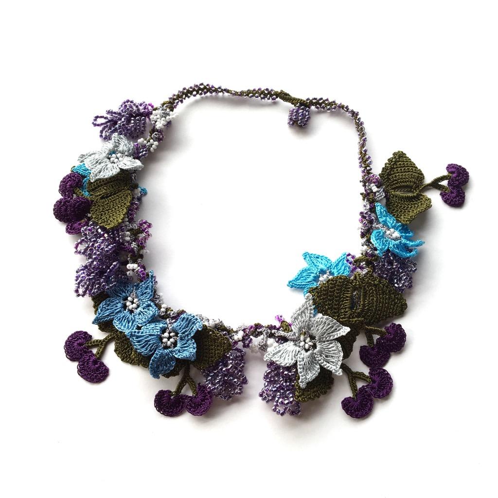 豪華なトルコ伝統オヤのネックレスの画像