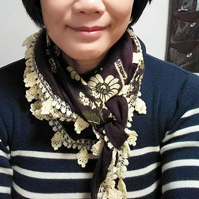 ビンテージトルコスカーフ(レース部分手編み)