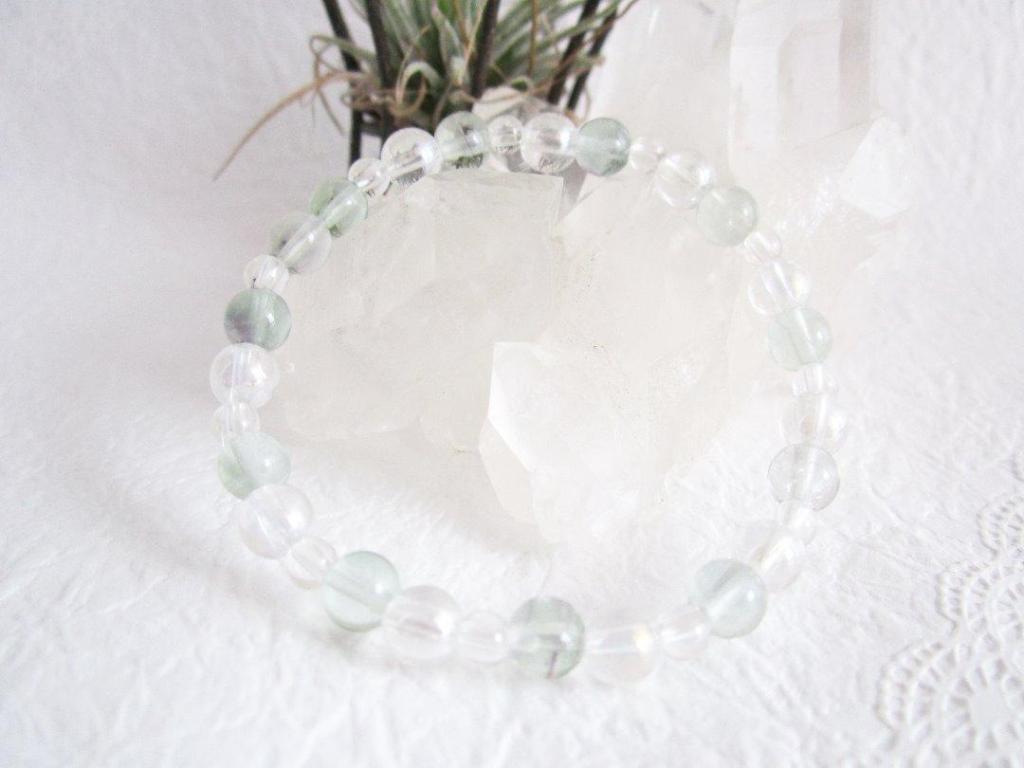 レインボークリスタルブレス 蛍石/水晶入りの画像